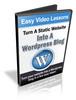 Thumbnail Turn A Static Website To WordPress Video Tutorials