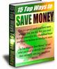 Thumbnail 15 Easy Ways To Save Money PLR Ebook