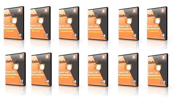 Product picture Oxford Email List Monetization Video Course with Transferable PLR