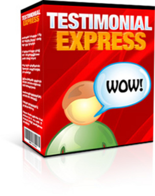Product picture Testimonial Express Software with Full Master Resale Rights