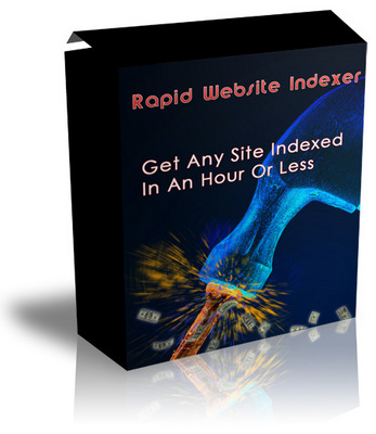 Product picture Rapid Website Indexer - Get Any Site Indexes In An Hour Or Less