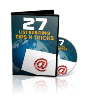 Product picture 27 List Building Tips And Tricks Videos Course with PLR