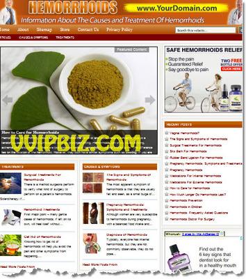 Product picture Hemorrhoids Website PLR - WordPress Health Niche Blogs