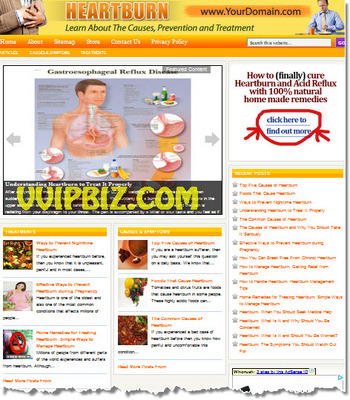 Product picture Heartburn Website PLR - WordPress Health Niche Blogs