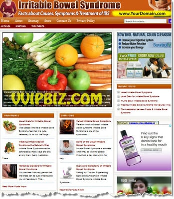 Product picture Irritable Bowel Syndrome Website PLR - WordPress Niche Blogs