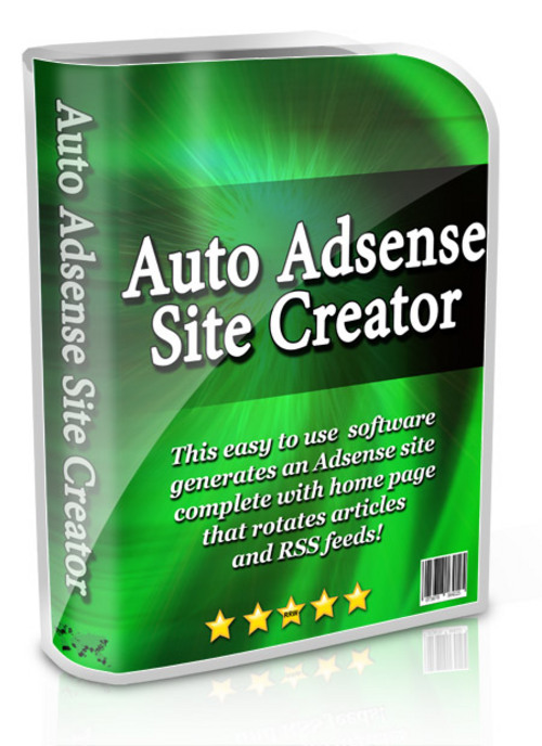 Product picture Auto Adsense Site Creator Resale Rights Software
