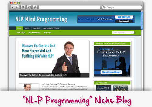 Product picture Neuro-Linguistic Programming (NLP) Niche Blog