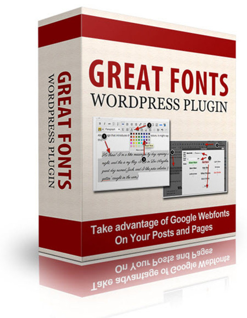 Product picture Great Fonts Plugin For WordPress