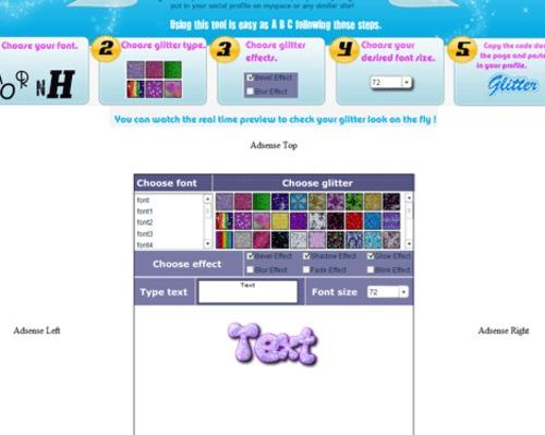 Product picture Glitter Text Generator Script