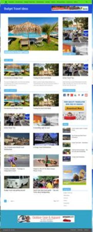 Product picture Budget Travel Niche Blog - PLR
