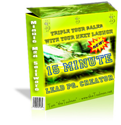 Product picture 15 Minute Lead Page Creators with Private Label Rights