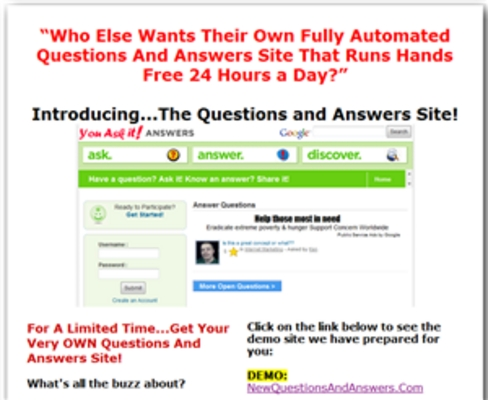 Product picture Turnkey Questions and Answers Site Script - MRR Included