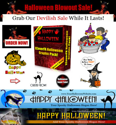 Product picture ECoverFX Halloween Hall Pack With Private Label Rights